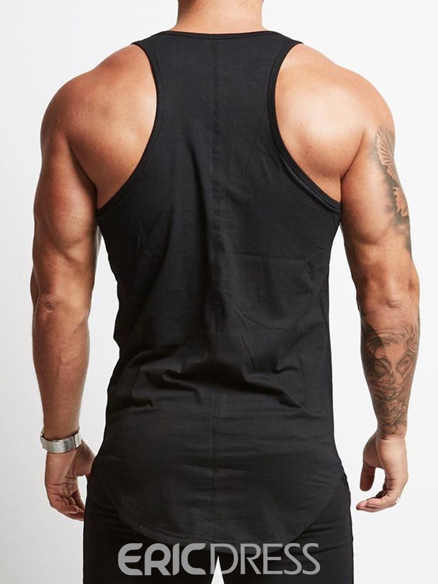 Ericdress Men Print Sleeveless Pullover Gym Sports Tank Tops