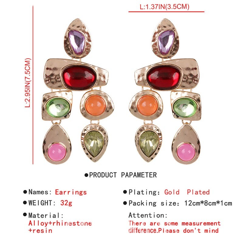 Ericdress Colour Gems Alloy Earrings