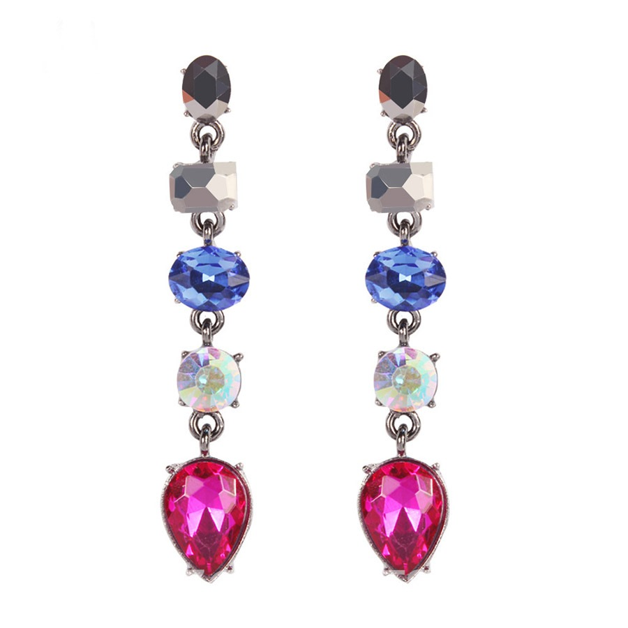 Ericdress Alloy Color Block Diamante Earrings