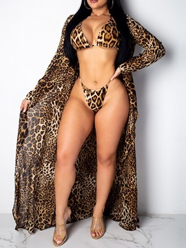 ericdress traje de baño conjunto de tankini leopardo occidental