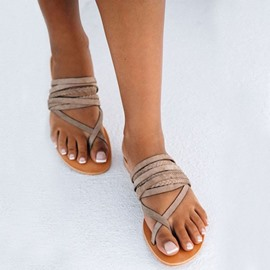 Ericdress Toe Ring Slip-On Women's Flat Sandals