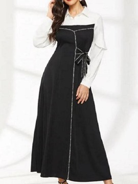 Ericdress Long Sleeve Lapel Ankle-Length Fashion Fall Dress