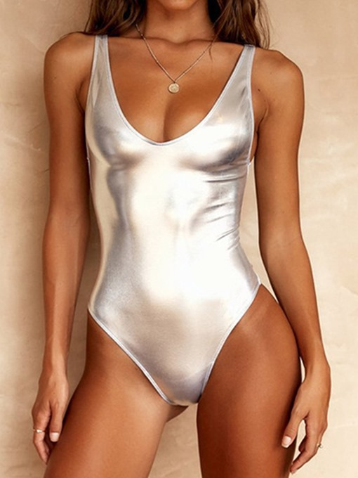 Ericdress One Piece Plain Simple Swimwear