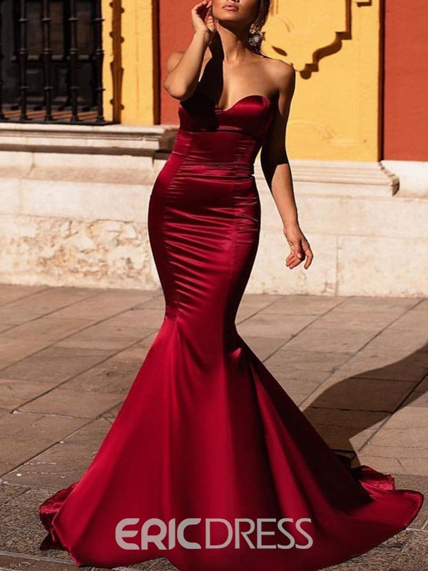 Ericdress Elegant Sweetheart Satin Mermaid Evening Dress