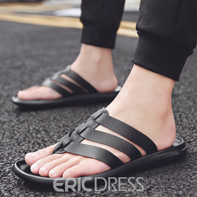 Ericdress Plain Simple Hollow Men's Slippers