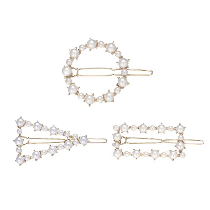 Ericdress Pearl Plain Barrette Party Hair Accessories