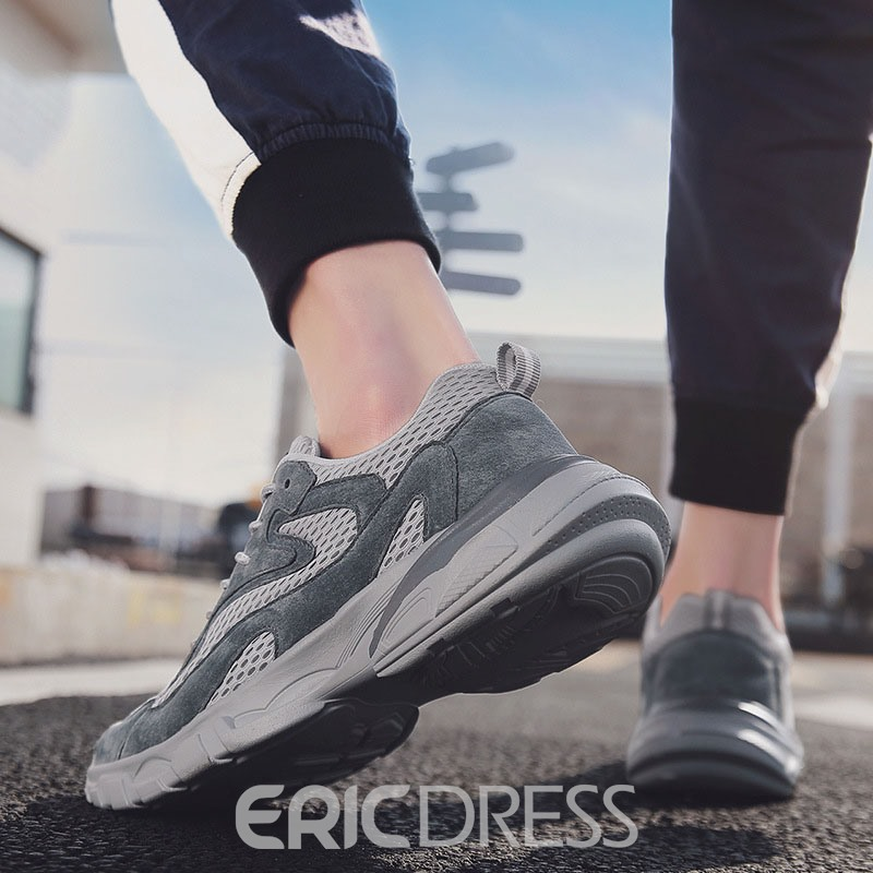 Ericdress Plain Low-Cut Upper Mesh Men's Sneakers