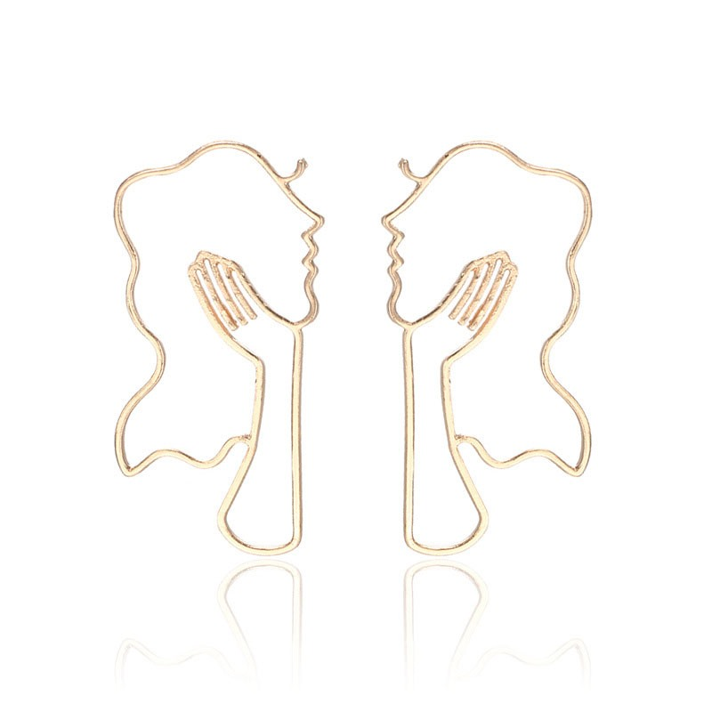 Ericdress Hollow Out Alloy Earrings