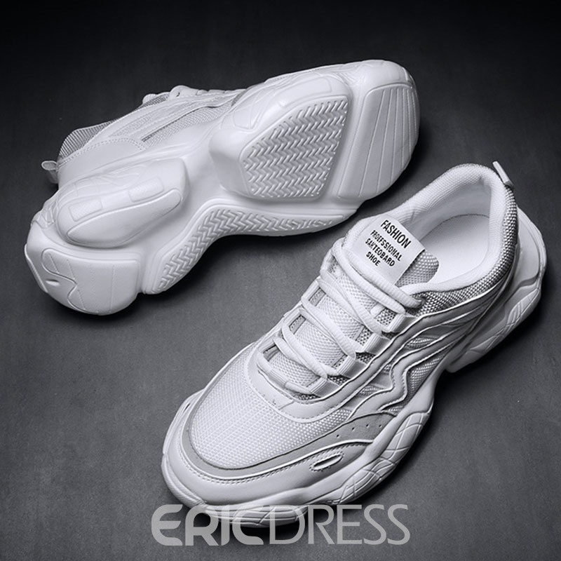Ericdress Patchwork Lace-Up Round Toe Men's Sport Shoes