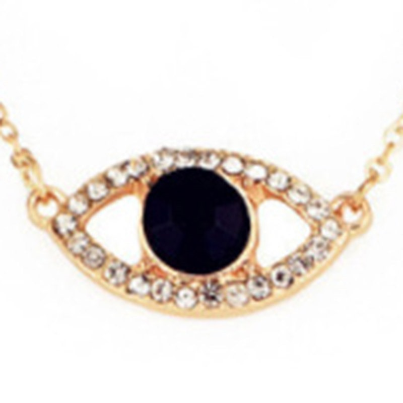 Ericdress Diamante Eye Pendant Necklace