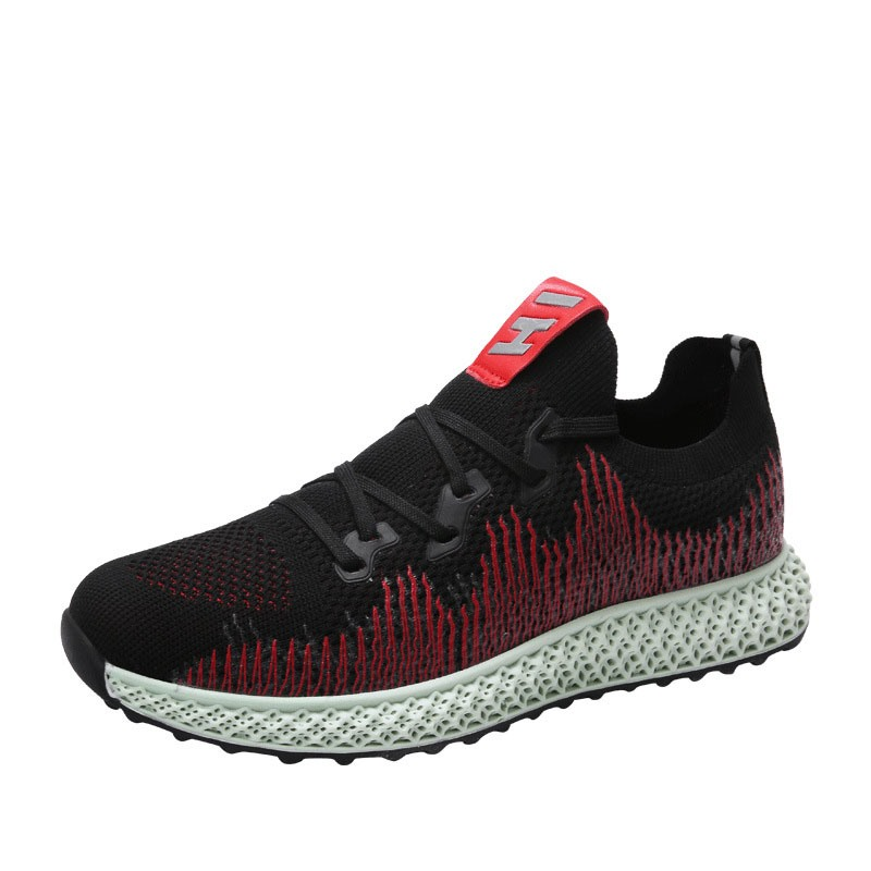 Ericdress Mesh Color Block Round Toe Lace-Up Men's Athletic Shoes
