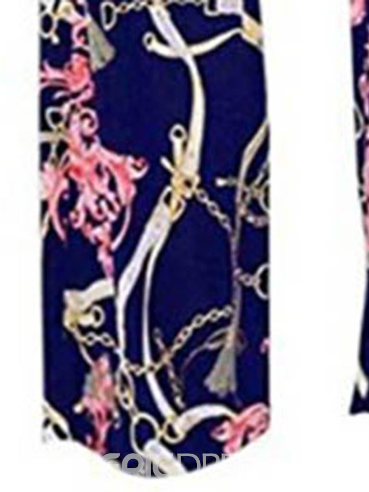 Ericdress Floral Print Loose Full Length Jumpsuit