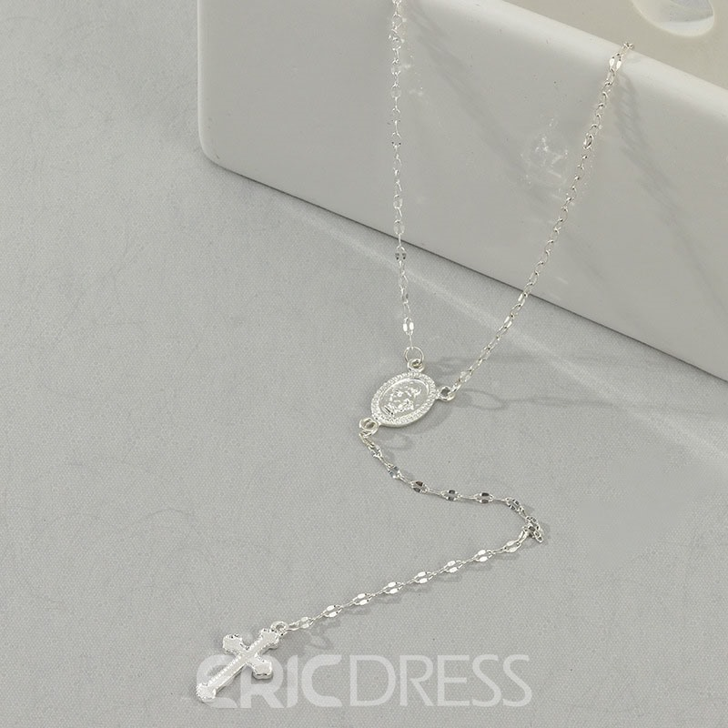 Ericdress Cross Diamante Necklaces For Women