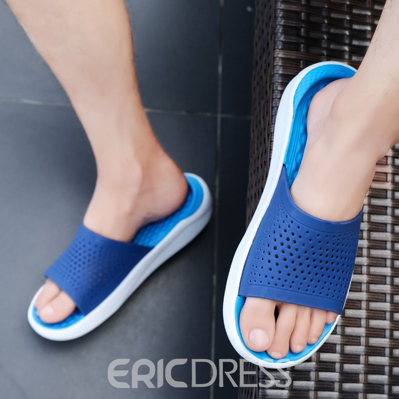 Ericdress PVC Hollow Simple Men's Slippers