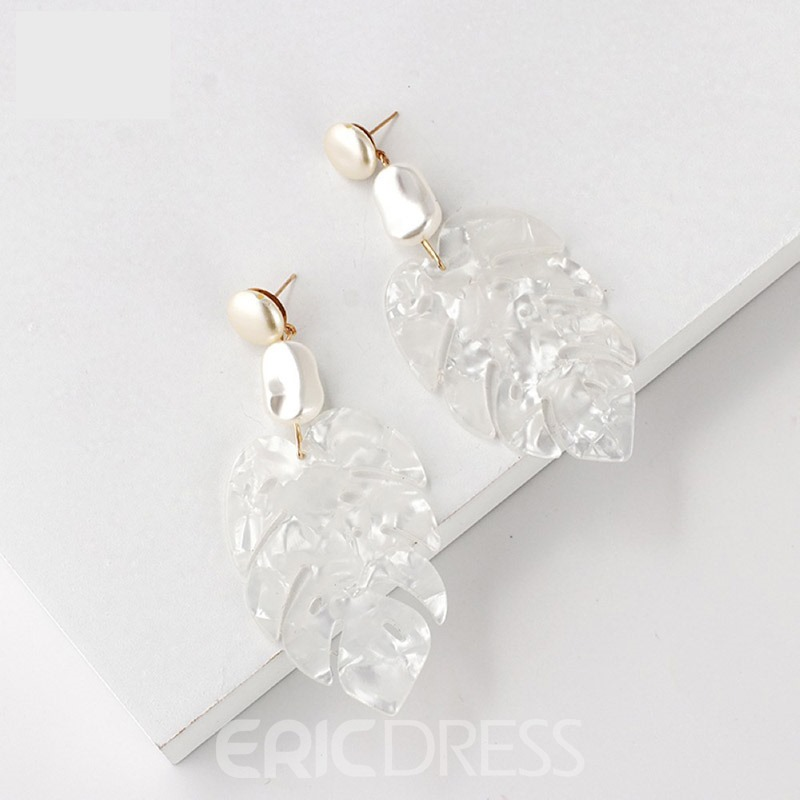 Ericdress Leaf Hollow Out Shell Earrings