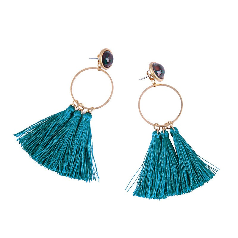 Ericdress Peacock Blue Alloy Prom Earrings
