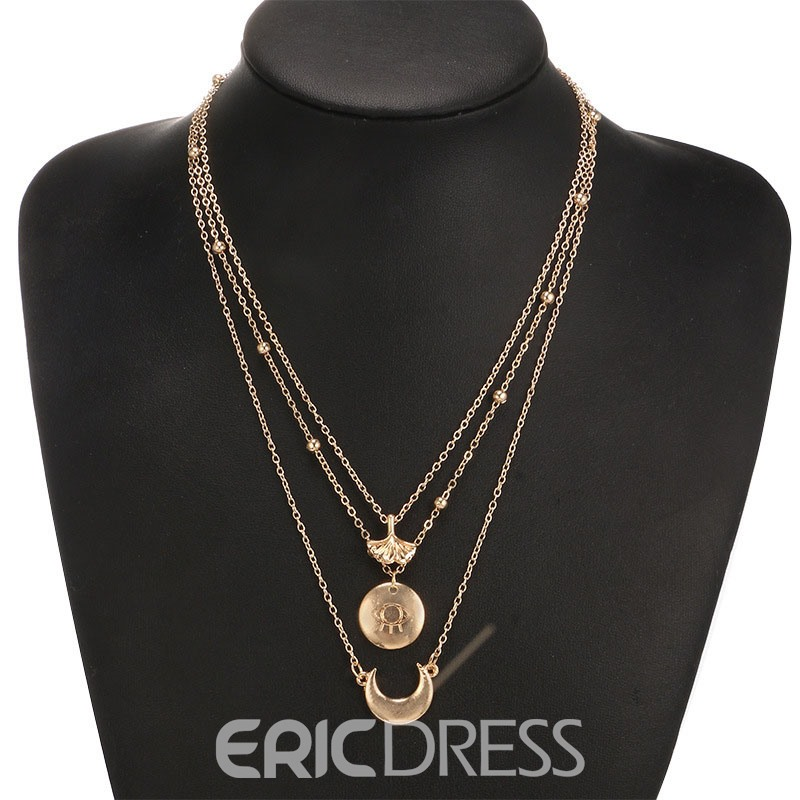 Ericdress Sexy Multilayer Pendant Necklace