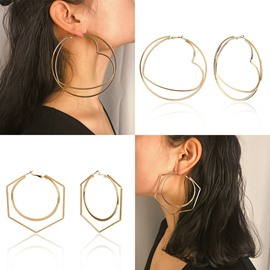 Ericdress Plain Alloy Love Women Earrings