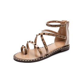 Ericdress Toe Ring Rivet Women's Flat Sandals