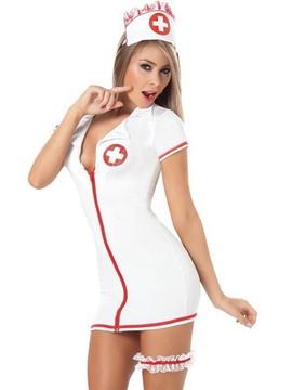 Ericdress Women's Cardiac Arrest Costume Short Sleeve Nurse Outfit