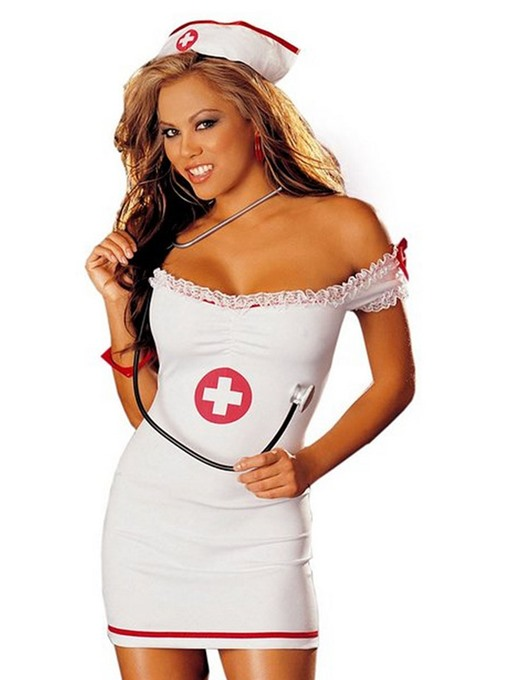 Ericdress Bowknot Nurse Outfit Sexy Cardiac Arrest Costume