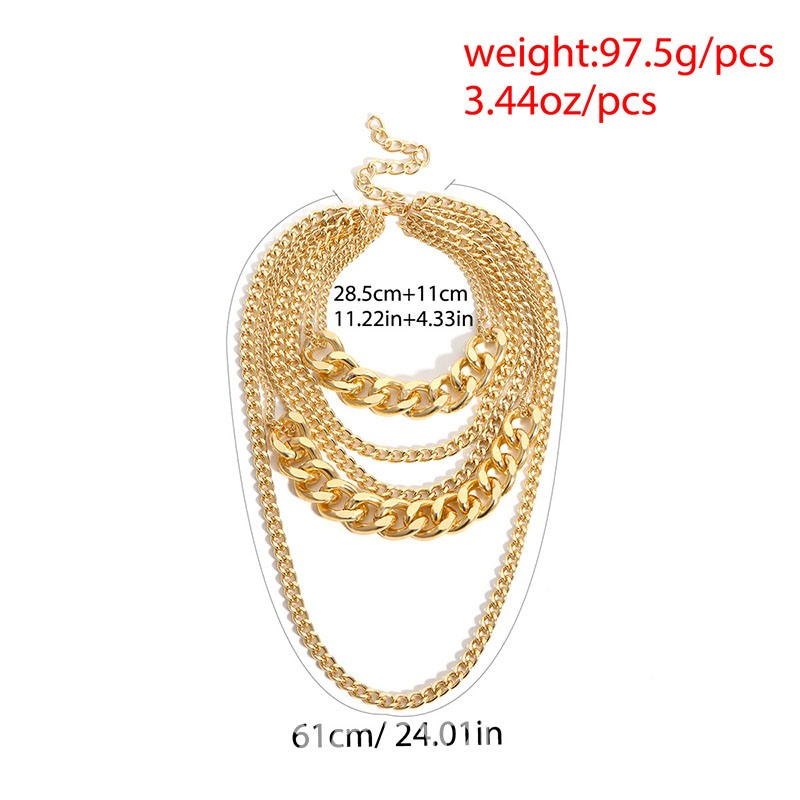 Ericdress Hip Hop Golden Necklaces