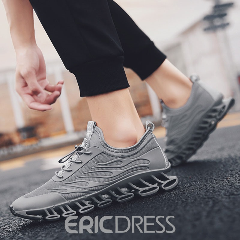 Ericdress Mesh Low-Cut Upper Lace-Up Men's Running Shoes