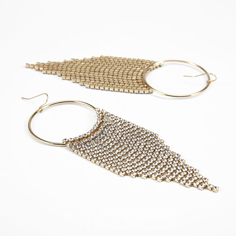 Ericdress Alloy Plain Dimante Earrings