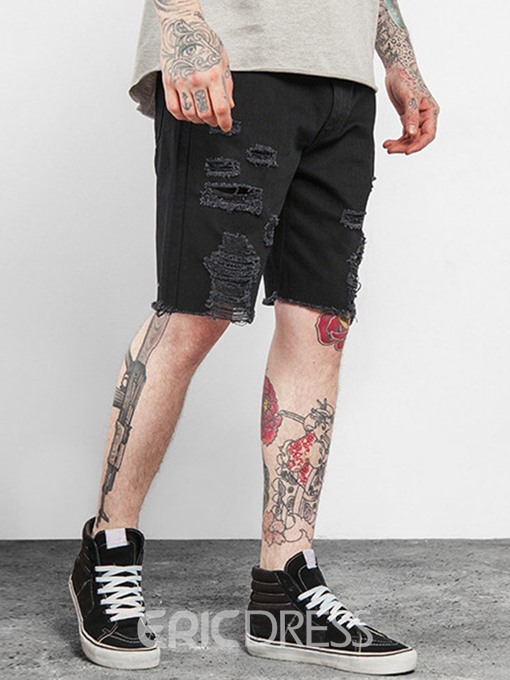 Ericdress Straight Zipper Thin Mens Casual Jeans