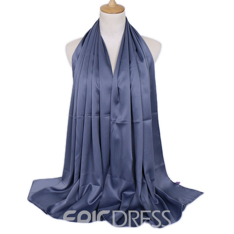 Ericdress Charmeuse Ladylike Imitated Silk Fabric Plain Scarf