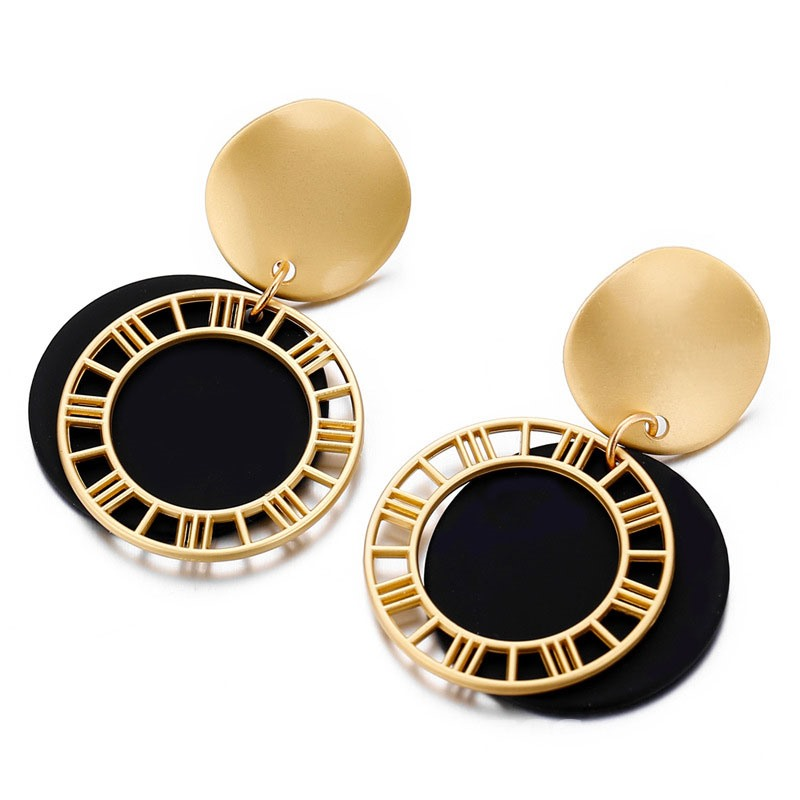 Ericdress Round E-Plating Alloy Fashion Earrings