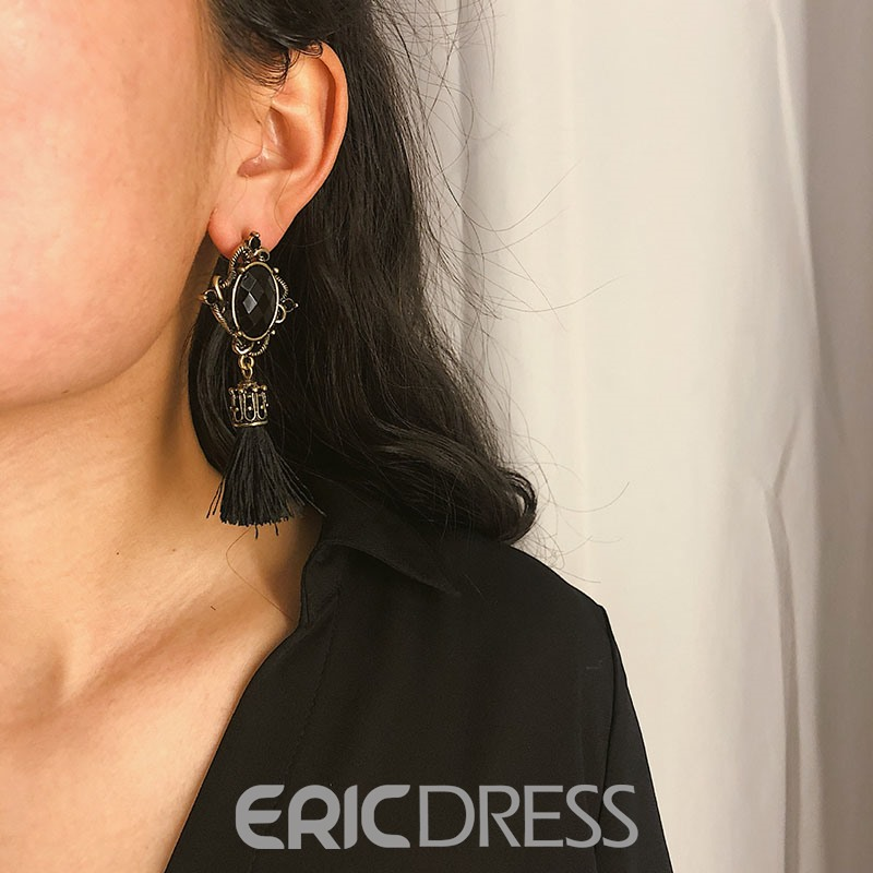 Ericdress Gemmed Gems Party Tassels Earrings