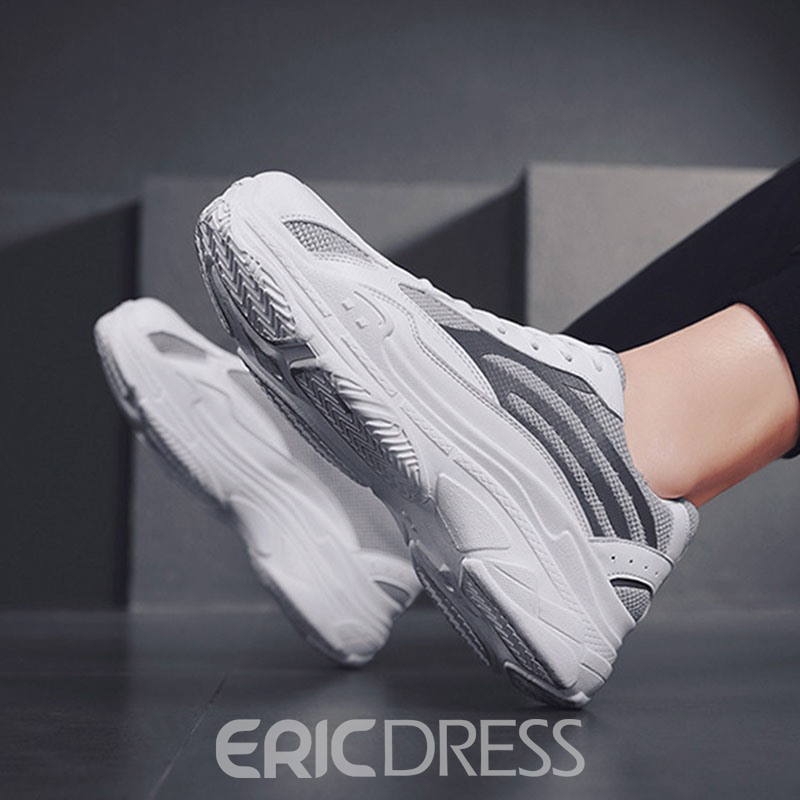 Ericdress Color Block Mesh Round Toe Men's Sports Shoes