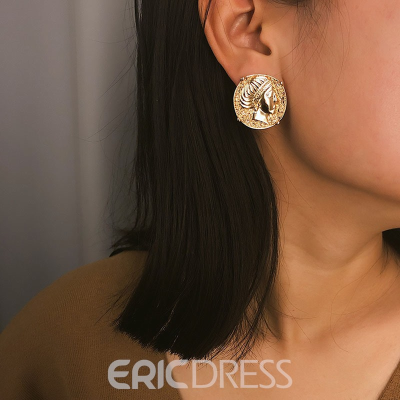 Ericdress Vintage Alloy Golden Earrings