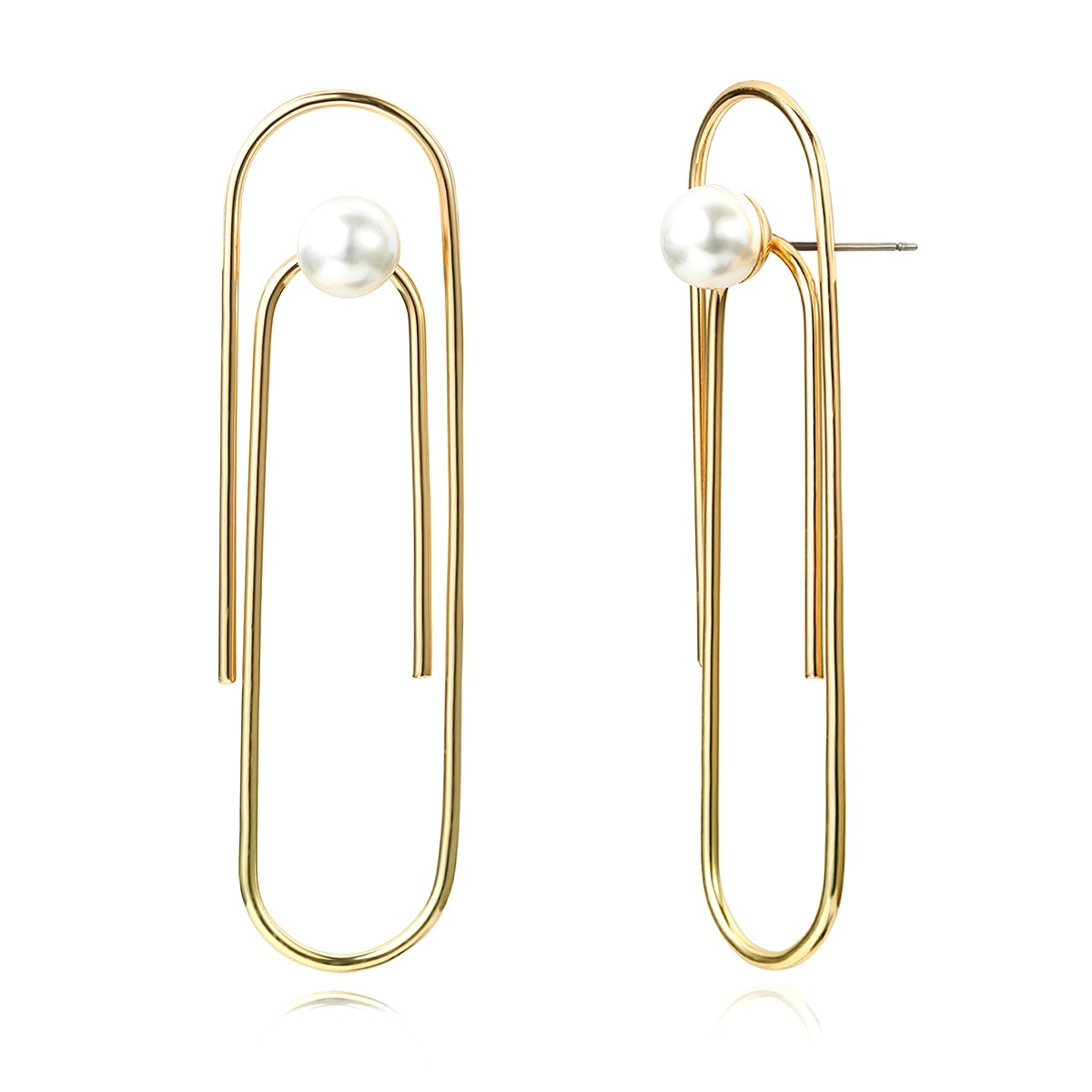 Ericdress Plain Pearl Buckle Earrings