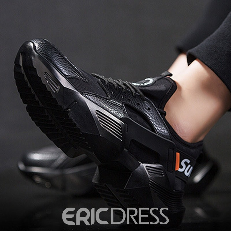 Ericdress Color Block Lace-Up Platform Men's Chic Sneakers