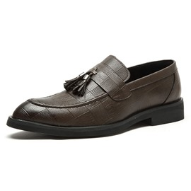 Ericdress Plain Fringe Low-Cut Upper Men's Dress Shoes