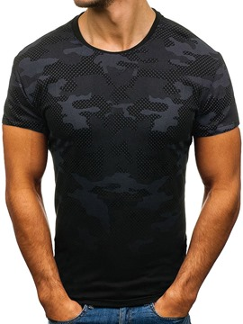 Ericdress Camouflage Round Neck Casual Slim Mens T-shirt