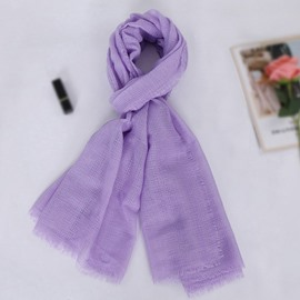 Ericdress Rough Selvedge Plain Scarf
