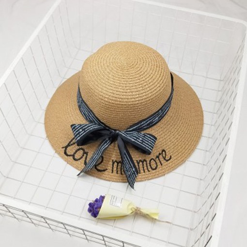Ericdress Embroidery Bowknot Letter Summer Hat