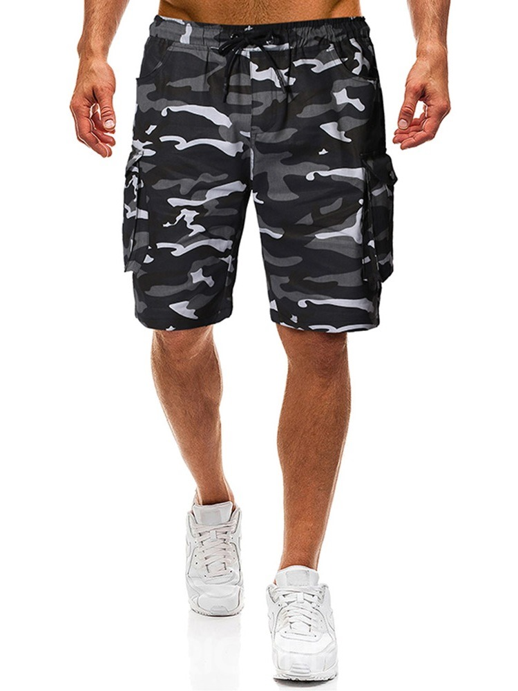 Ericdress Pocket Camouflage Thin Lace-Up Mens Casual Pants