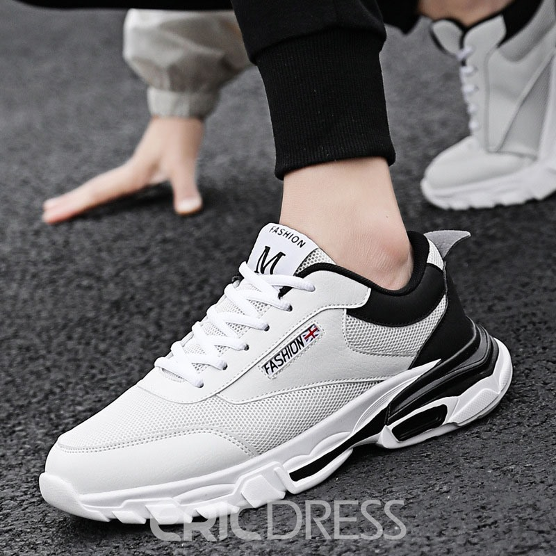 Ericdress Mesh Patchwork Lace-Up Men's Running Shoes