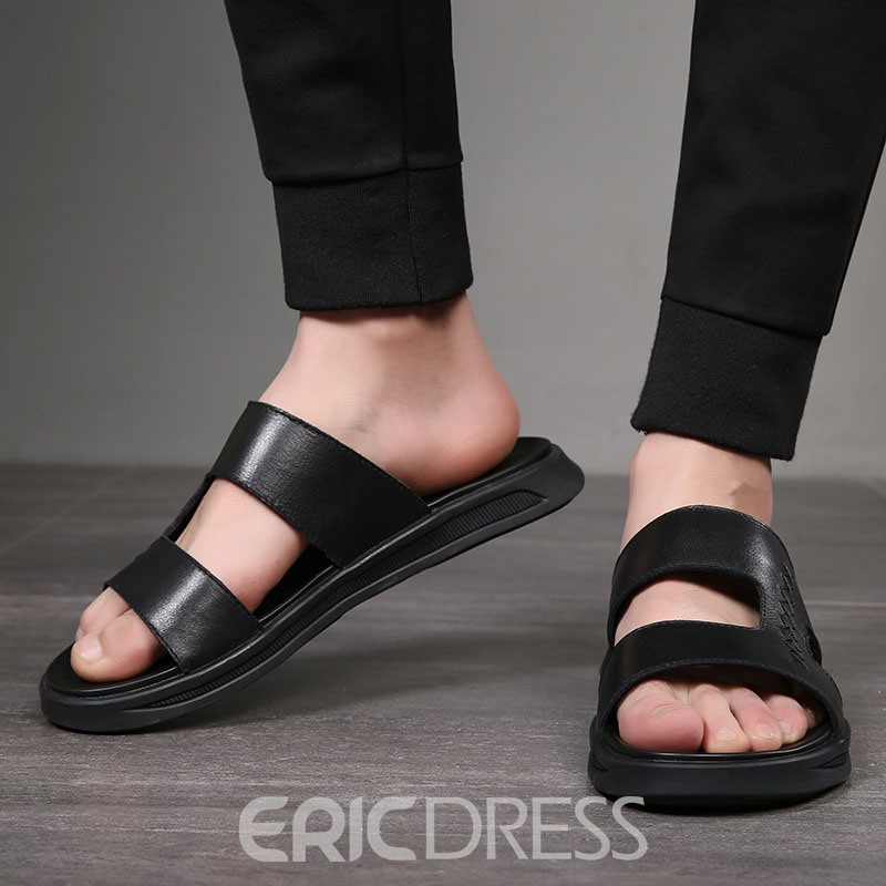 Ericdress Plain Hollow Men's Simple Slippers