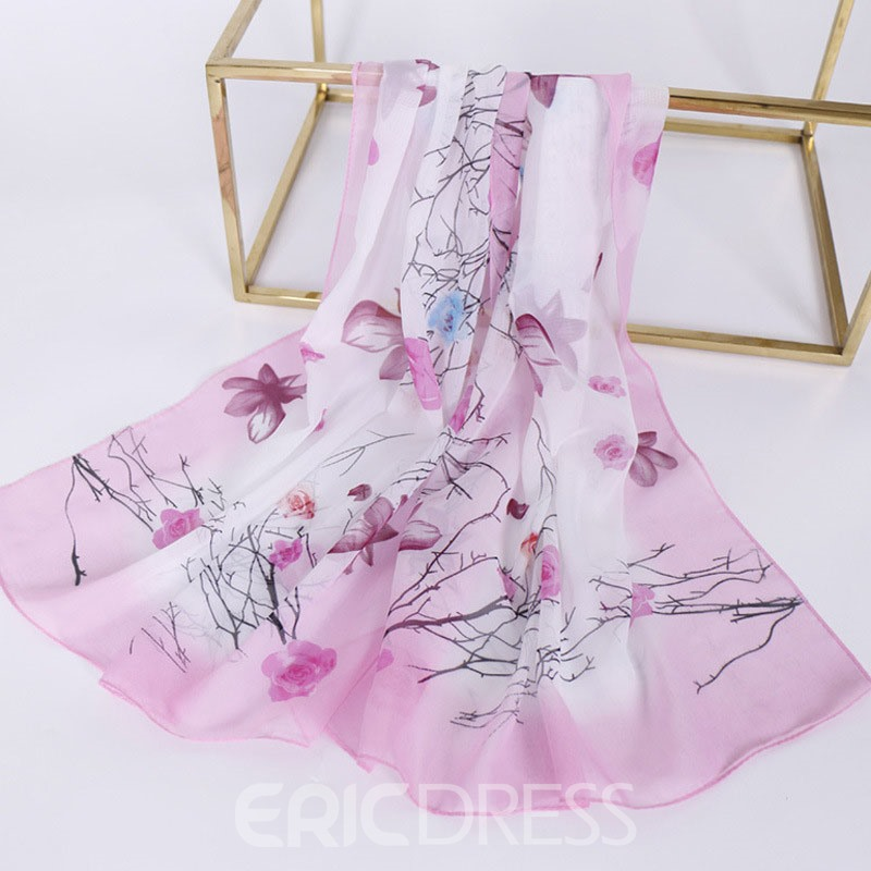 Ericdress Print Fashion Style Floral Scarf