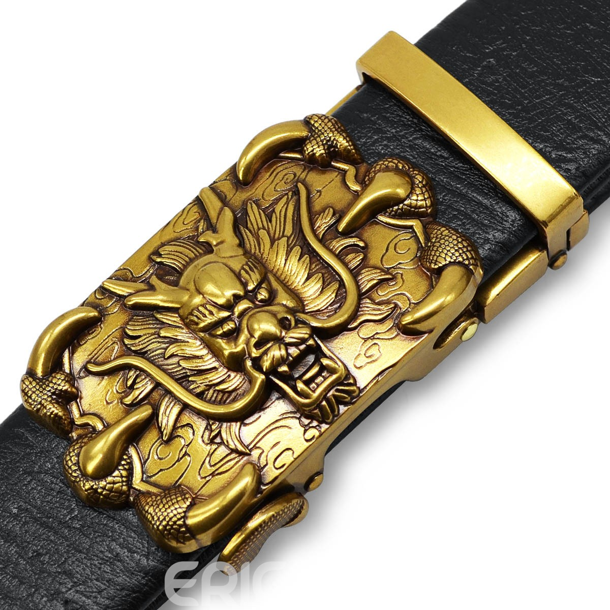 Ericdress Carved Vintage Dragon PU Belt For Men