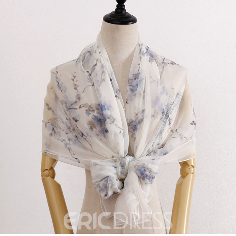 Ericdress Print Shawl Floral Scarf For Women