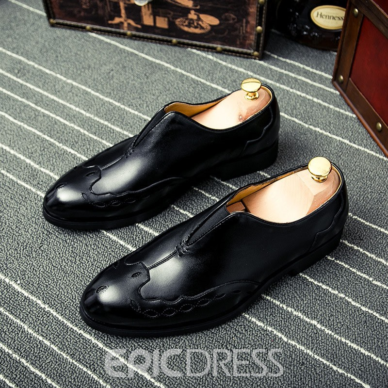 Ericdress PU Slip-On Round Toe Men's Dress Shoes