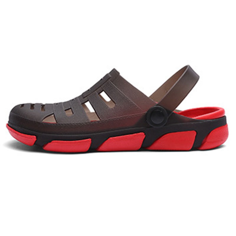 Ericdress Simple Hollow Slip-On Round Toe Men's Sandals