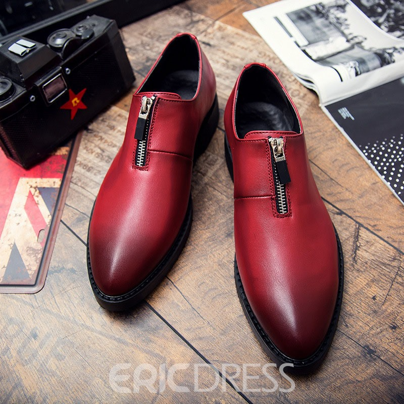 Ericdress PU Zipper Gradient Men's Dress Shoes