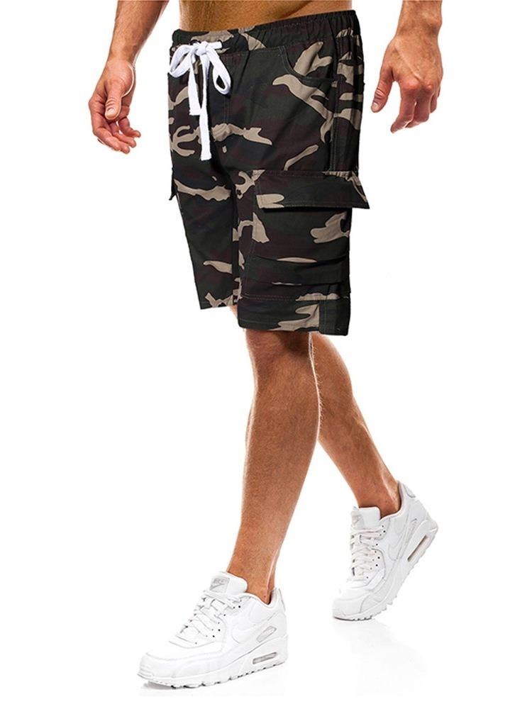 Ericdress Thin Lace-Up Camouflage Casual Mens Pants